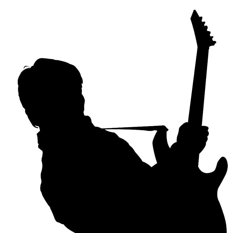 Silhouette gitarist